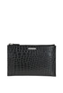 Crocodile print leather tablet holder Saint Laurent