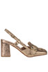 Metallic efftect leather slingback pumps Elvio Zanon