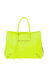 'Papier A4' fluo leather bag Balenciaga