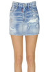 Used effect denim mini skirt Dsquared2