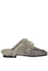 Crocodile print leather mules Passion Blanche