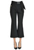 Eco-leather bow trousers Elisabetta Franchi