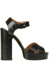 Leather platform sandals Laurence Decade