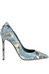 Reptile print leather pumps Greymer