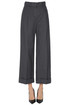 Cropped linen-bled trousers Aspesi