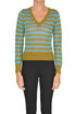 Striped lurex knit pullover Happy Sheep