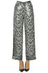 Sequined animal print trousers ITMFL