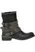 Cut-out leather biker boots Metisse