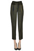 Striped satin trousers Soallure