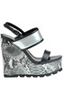 Reptile print wedge sandals Tiffi