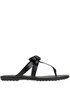 Designer logo leather flip-flop Tod's