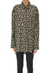 Animal print cotton shirt MSGM