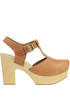 Tilde leather platform clogs Antidoti
