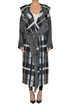 Checked print knitted coat Stella McCartney