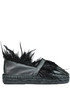 Espadrillas with feathers Balear Mania