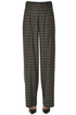 Checked wide-leg trousers Vince