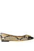 Chelsea reptile print leather ballerinas Tory Burch