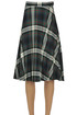 Pleated checked print skirt Semicouture