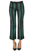 Cropped stripred satin trousers N.21