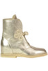 Metallic effect leather boots Passion Blanche