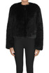Cropped eco-fur jacket Dondup