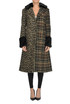 Checked and animal print coat De'Hart