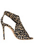 Animal print satin sandals Casadei