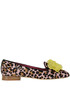 Animal print haircalf slippers 181