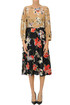 Flower print silk midi dress Rochas