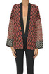 Optical print cardigan Semicouture
