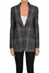 Checked print blazer Off