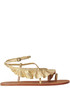 Metallic effect leather sandals Ulla Johnson