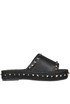 Studded eco-leather slides Bibi Lou