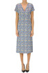 Optical print jersey dress Monika Varga