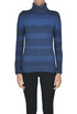 Striped turtleneck pullover Base Milano