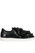 Ruched leather slip-on sneakers Pokemaoke