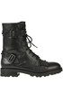 Witch studded leather combat boots Ash