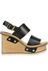 Leather wedge sandals Chloé