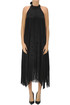 Fringed jacquard satin dress MSGM