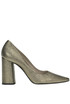 Metallic effect leather pumps Strategia