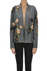 Flower print silk open blouse Dries Van Noten