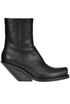 Cowboy leather ankle boots Vetements