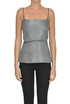 Structured lame' fabric top Cedric Charlier