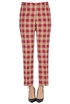 Paola checked print trousers Dries Van Noten