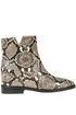 Reptile print leather ankle-boots Niubai Studio