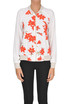 Flower print crepè bomber jacket Traffic people