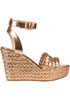Woven leather wedge sandals Elvio Zanon