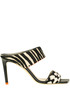 Hira animal print haircalf mules Jimmy Choo