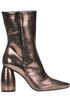 Metallic effect leather ankle-boots Strategia