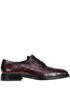 Crocodile print leather lace-up shoes Alberto Gozzi